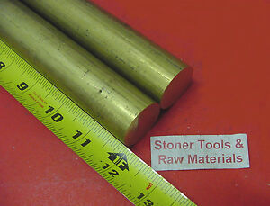 2 Pieces 1 1 8 C360 Brass Solid Round Rod 12 Long H02 Lathe Bar Stock 1 125