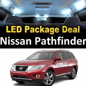 8x White Led Lights Interior Package Deal For 2013 2016 2017 Nissan Pathfinder