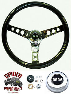 1969 1977 Chevelle Malibu Steering Wheel Ss 13 1 2 Glossy Grip Steering Wheel