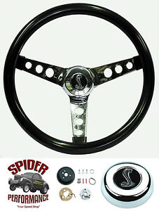 1965 1969 Mustang Steering Wheel Cobra 13 1 2 Glossy Grip