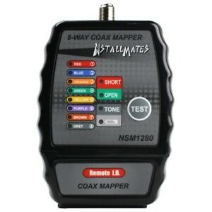 Nstallmates 8 way Coax Mapper With Color Coded Indicators