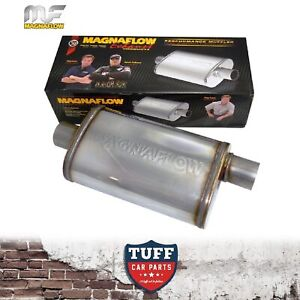 Magnaflow Stainless Steel 2 25 Muffler Oval Body 16 X 8 X 5 Centre Offset