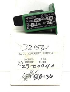 Katy Instruments A c Current Sensor 420 Range 10 A In 5 40 Vdc Out 4 20 Ma