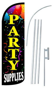 Party Supplies Flag Kit 3 Wide Windless Swooper Feather Advertising Sign