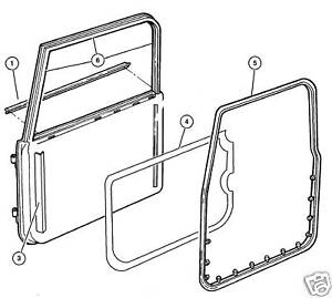 Jeep Wrangler Tj Lj 1997 2006 Left Full Door Weather Seal With Clips Brand New