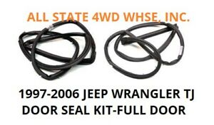 Left Right Seals Jeep Parts 1997 2006 Wrangler Tj Full Door To Body Seal Set