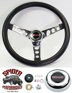 1974 1986 Suburban Gmc Pickup Jimmy Steering Wheel Classic Chrome 13 1 2 Grant