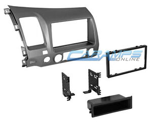 06 11 Civic Taupe Single Or Double 2 Din Car Stereo Installation Dash Trim Kit