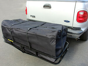 58 Large Cargo Carrier Bag Truck Hitch Roof Top Rack Luggage Weather Resistant