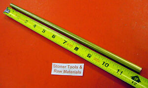 3 8 C360 Brass Solid Round Rod 12 Long H02 New Lathe Bar Stock 375