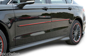 For Chevy Malibu Painted Body Side Mouldings Moldings W Red Insert 2008 2012