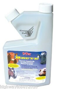 4 Ea Y tex 0812000 Brute 16oz Pour On Insecticide For Cattle Swine And Horses
