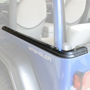 1987 1995 Jeep Wrangler Soft Top Side Corner Channels With Hardware Kit