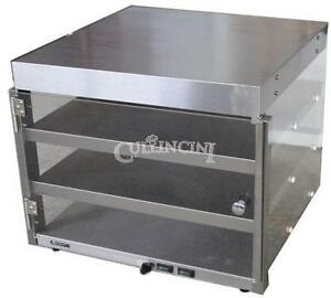 Adcraft Pizza Merchandiser Warmer Display Commercial Stainless Steel Shleves P