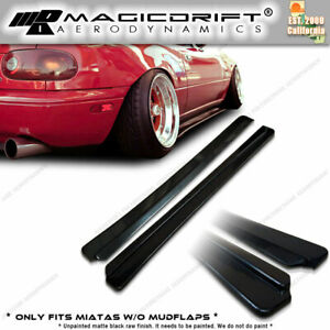 For 90 97 Mazda Na Miata Roadster Jdm Fd Style Side Skirts Flat Under Extension