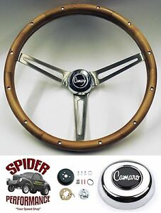 1969 1973 Camaro Steering Wheel 15 Muscle Car Walnut