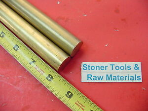 2 Pieces 3 4 C360 Brass Round Rod 8 Long Solid 750 New Lathe Bar Stock H02