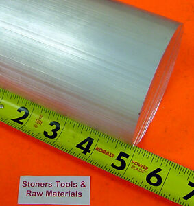 5 Aluminum 6061 Round Rod 5 1 Long T6511 5 Od Solid Extruded Lathe Bar Stock