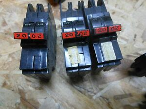 Fpe Federal Pacific Nc220 2pole 20amp 120 240v Circuit Breaker Type Nc Thin