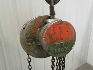 Cm Cyclone S 1 Ton Manual Chain Fall Hand Pull Hoist 13 Lift 2000 Lb Capacity
