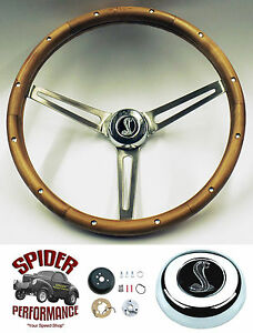 1965 69 Fairlane Falcon Galaxie 500 Steering Wheel Cobra 15 Muscle Car Walnut