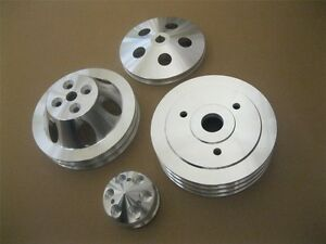 Big Block Chevy Swp Crankshaft Alternator Power Steering Water Pump Pulley Kit