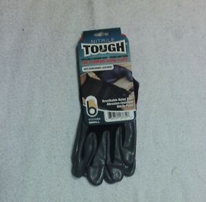 Tough Work Gloves Breathable Nylon Knit Nitrile Palm Size Small Lot Of 12 Mw