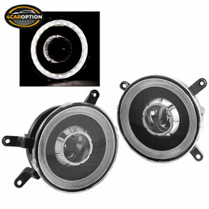 Fits 05 09 Ford Mustang Halo Fog Lights Lamps Projector Black One Set Left Right