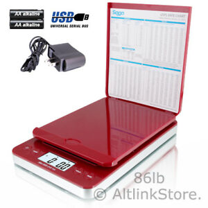 Saga Postal Scale 86lb X 0 1oz Digital Shipping Scale Postage Ac Usb All In One