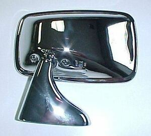 Austin healey Sprite Mg Midget Mgb Left Driver s Side Mirror Chrome New M68991