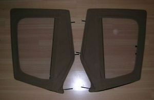 1987 1995 Jeep Wrangler Soft Top Upper Door Windows With Frame Spice Tan Pair