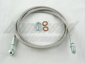 Master To Slave Cylinder Complete Stainless Clutch Line 1992 2000 Honda Civic
