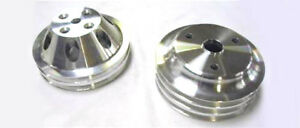 Small Block Chevy Lwp Aluminum 2 3 Groove Water Pump Crankshaft Pulley Kit
