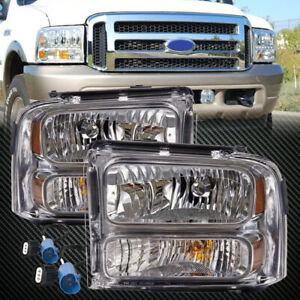 99 04 Superduty Ford Excursion Conversion 07 Headlamps Headlights Set