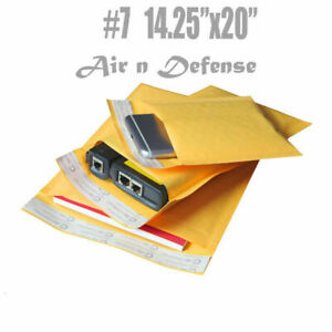 50 7 14 25x20 Kraft Bubble Padded Envelopes Mailers Shipping Bags Airndefense