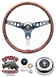 1965 1969 Mustang Steering Wheel Pony 13 1 2 Classic Walnut
