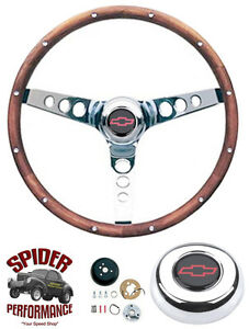 1955 1956 Bel Air 210 150 Steering Wheel 13 1 2 Classic Walnut Steering Wheel