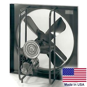36 Exhaust Fan 1 Ph 2 Hp 16500 Cfm 1725 Rpm 115 230v 4 Blades Enclosed
