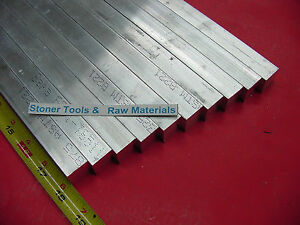 10 Pieces 3 4 x 3 4 Aluminum 6061 Square Flat Bar 18 Long T6511 New Mill Stock