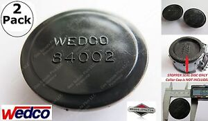 2 pack Wedco Black Stopper Seal Discs 84002 Replacement Gas Can Parts Briggs New