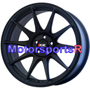 17 X 8 25 Xxr 527 Flat Black Rims Wheels 5x114 3 07 Mitsubishi Evo 8 9 Evolution