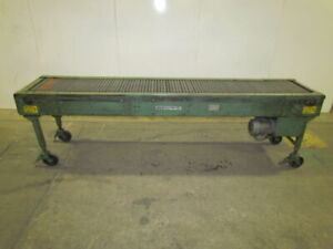 Rto 1412 Movable Accumulation Conveyor 18 x10 Powered Chains W static Rollers
