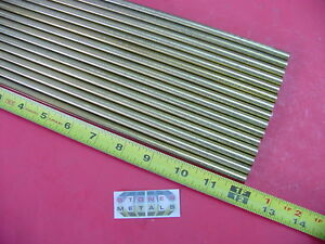 16 Pieces 5 16 C360 Brass Solid Round Rod 12 Long H02 312 Od Lathe Bar Stock