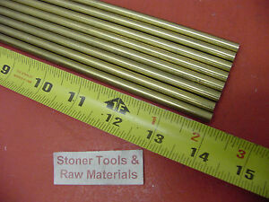 8 Pieces Of 1 4 C360 Brass Solid Round Rod 14 Long 250 Lathe Bar Stock
