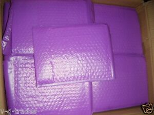 Lot Of 250 Purple 6x10 Poly Bubble Shipping Mailers 0 Usable 6x9 Envelopes