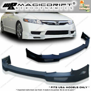 New N spec Ns Front Bumper Lip Urethane Plastic For 09 11 Honda Civic 4dr Sedan