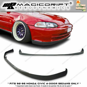 New Sir Oe Front Bumper Lip Urethane Plastic For 92 95 Honda Civic 4dr Eg Sedan