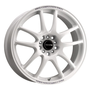 Set 4 18x8 35 5x100 114 3 Drag Dr 31 White Wheels Rims 18 Inch 22545