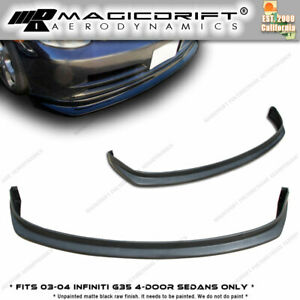 New N1 Jdm Front Bumper Lip Urethane Plastic For 03 04 Infiniti G35 4dr Sedan