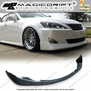 06 08 Lexus Is250 Is350 V Style Front Lip Side Skirt Extensions Kit Combo